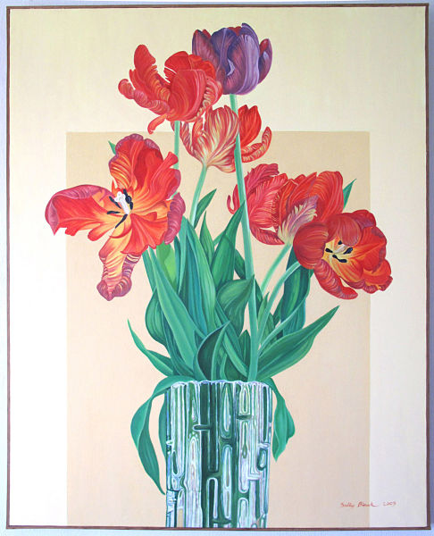 sally-black-tulips-in-glass-vase